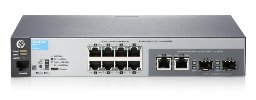 HP J9777A 2530-8G 8 PORT GIGABIT L2 SWITCH