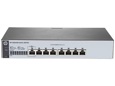 HP J9979A 1820-8G 10/100/1000 WEB YÖNETİLEBİLİR SWITCH